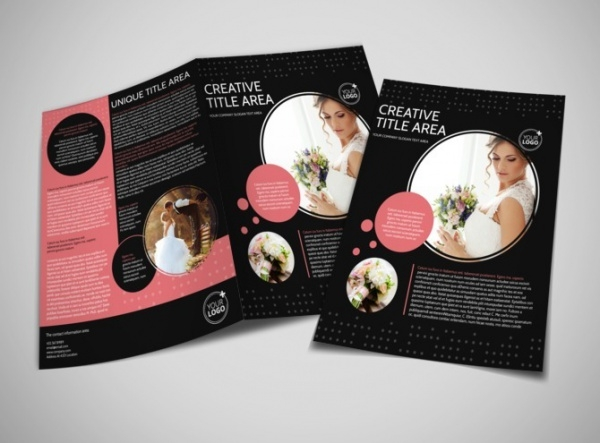 Beautiful Wedding Photography Bi-Fold Brochure