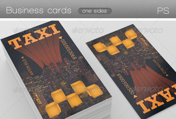 Black Taxi Business Card Design
