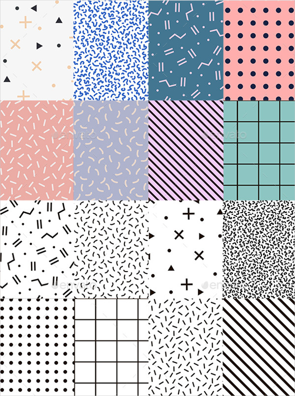 15 Memphis Patterns Photoshop Patterns