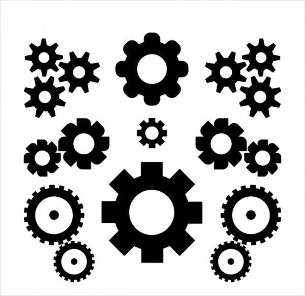 Black gears Graphic vector
