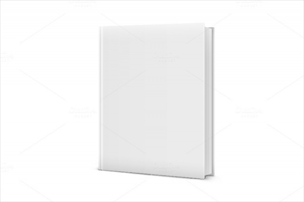 Blank White Standing Book Vector