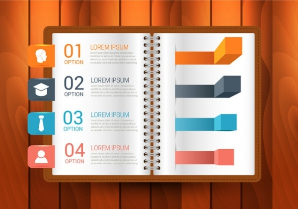 Book Infographics Vector