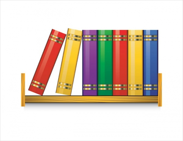 Bookshelf vector illustration