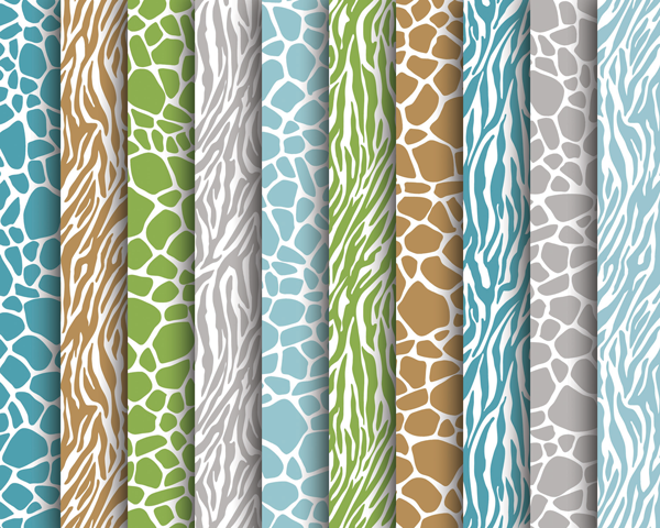 Boy's Safari Animal Print Papers