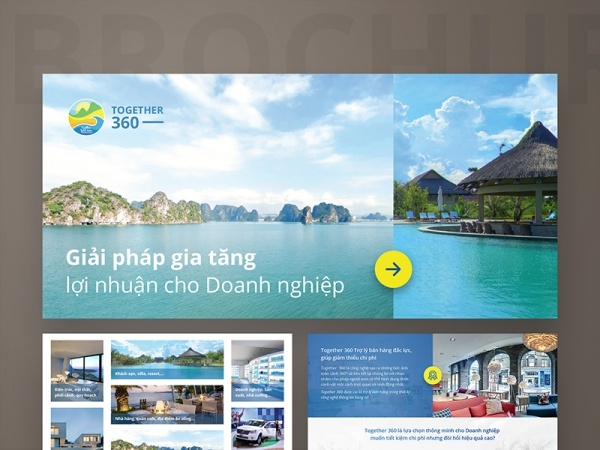 Brochure Together 360 for travel company