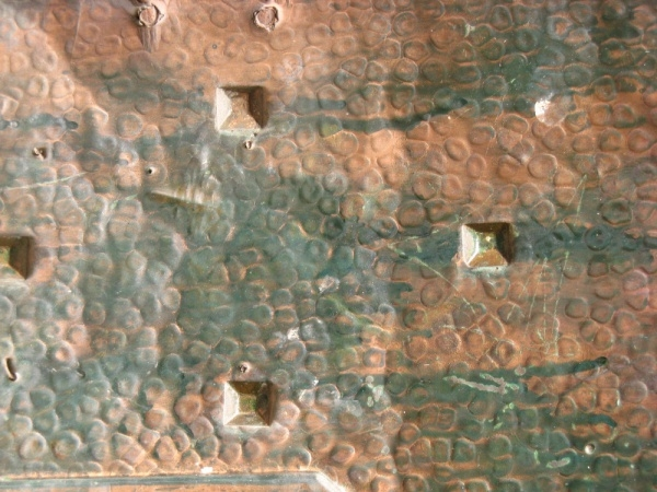 Bronze Hammered Surface Texture