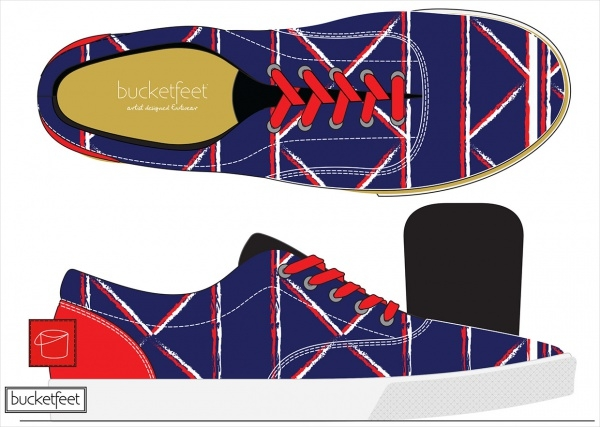 BucketFeet Celebration Shoe Mockup