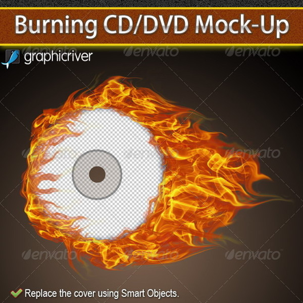 Burning CD Cover Mock-up