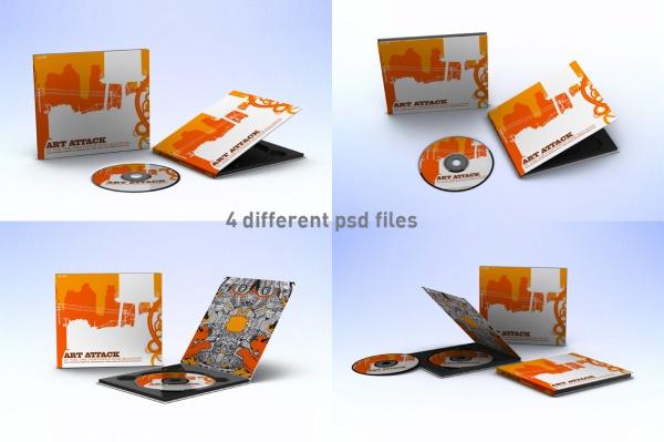CD Case & Disc Mock-ups