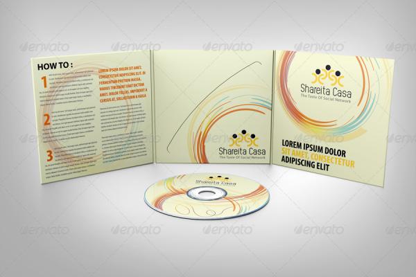 CD Realistic Sleeve Mockup