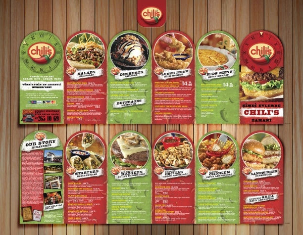 CHILI'S Restaurant BROCHURE
