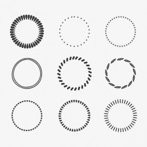 Calligraphic circles Vector