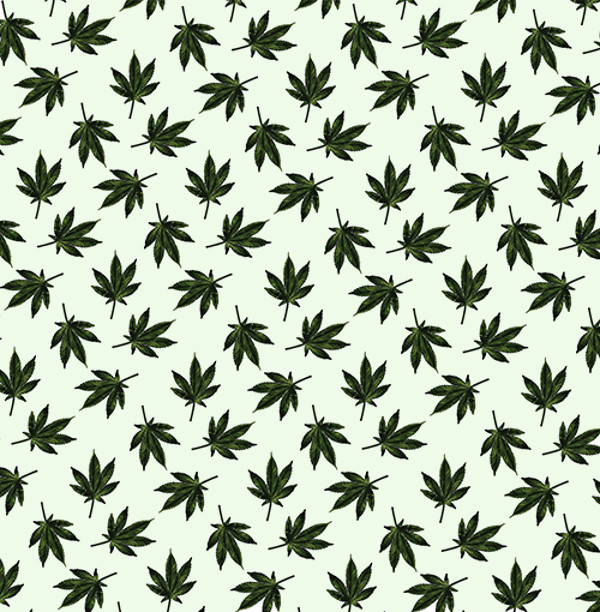 Cannabis Weed Plant Pattern