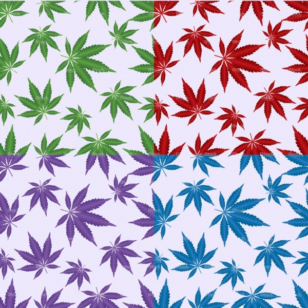 Cannabis leaf pattern Collection