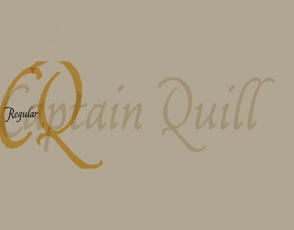 Captain Quill script font