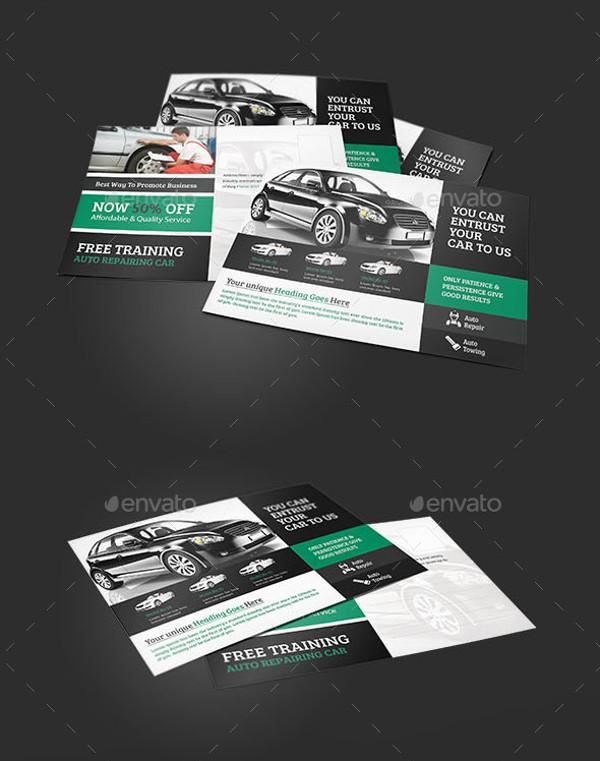 Car Repair Service PostCard Design