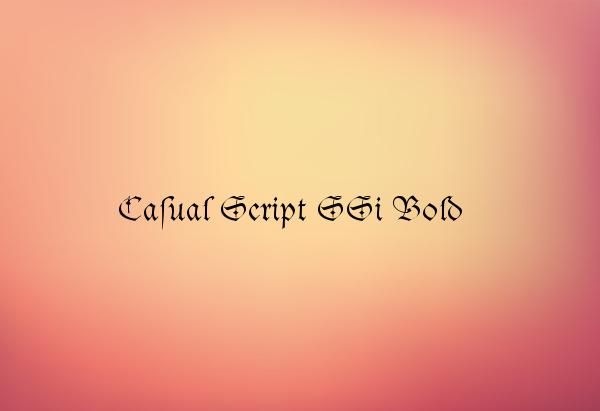 Casual Script SSi Bold