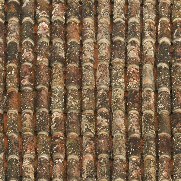 Ceramic Old Roof Tiles Texture