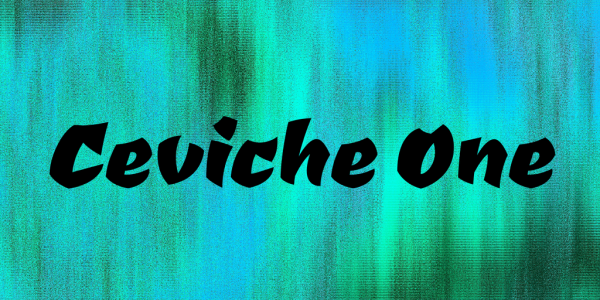 Ceviche One Font