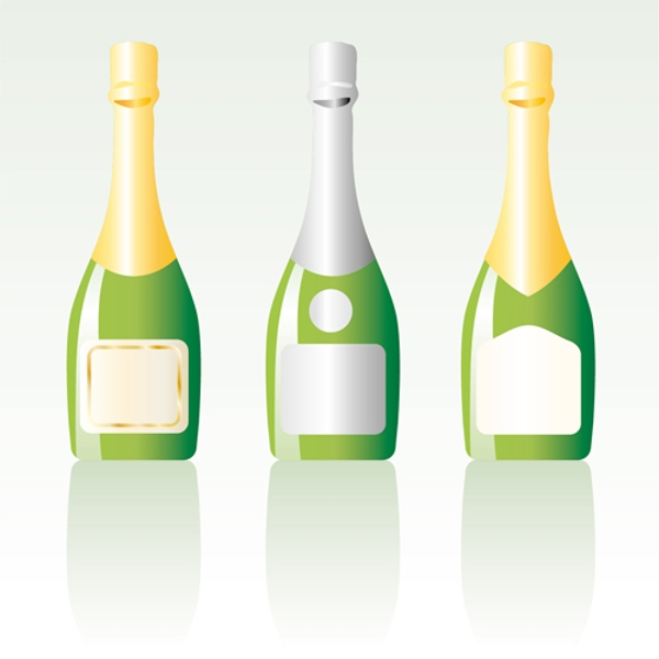 Champagne Bottle Vector Download