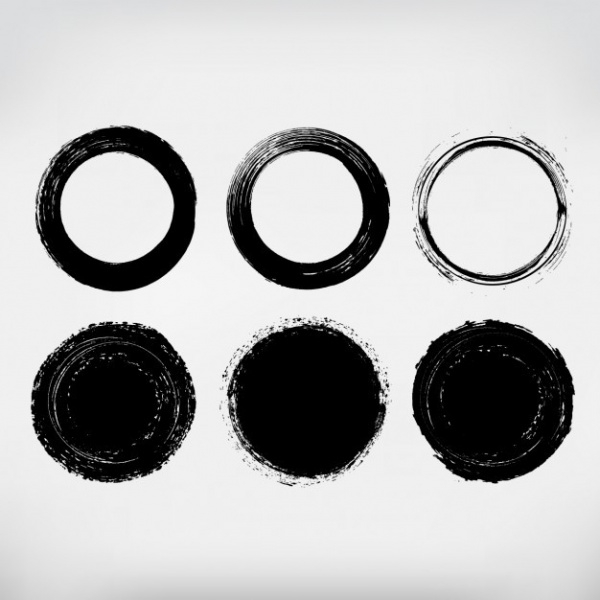 Circles Hand Painted Collection Vector