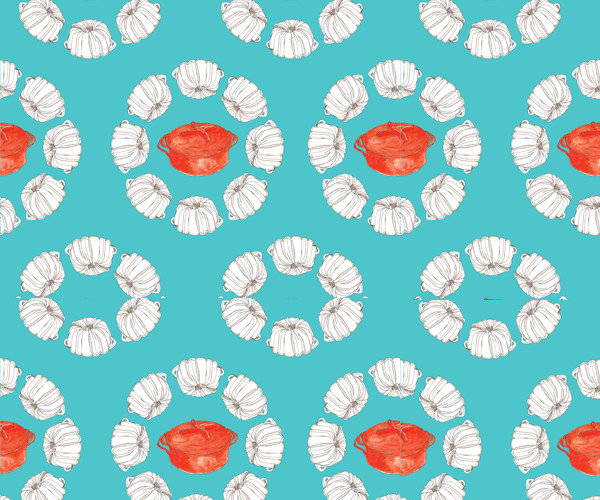 Classic cookware pattern