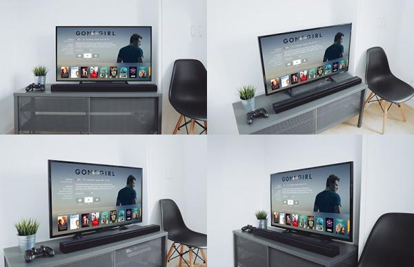 Clean TV Mockup