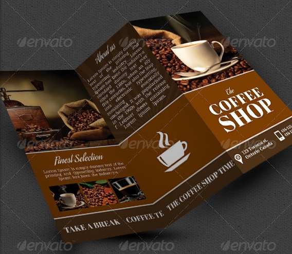 Coffee Shop Brochure Indesign