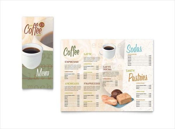Coffee Shop Take-out Brochure Template