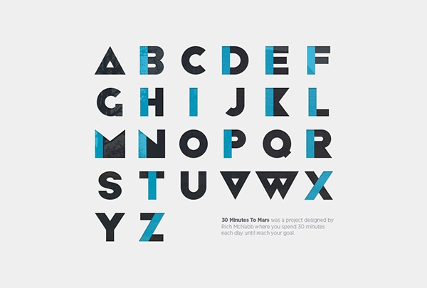 Colorful Geometric Alphabet Font