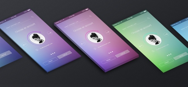 Colorful Screen MockUp For Desktop