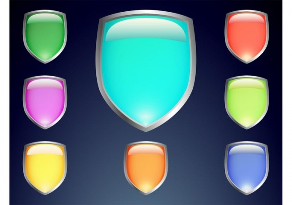 Colorful Shield Vectors For desktop