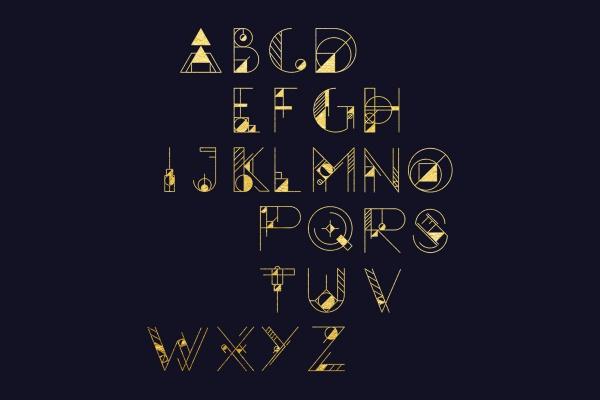 15+ Geometric Fonts - OTF, TTF Download