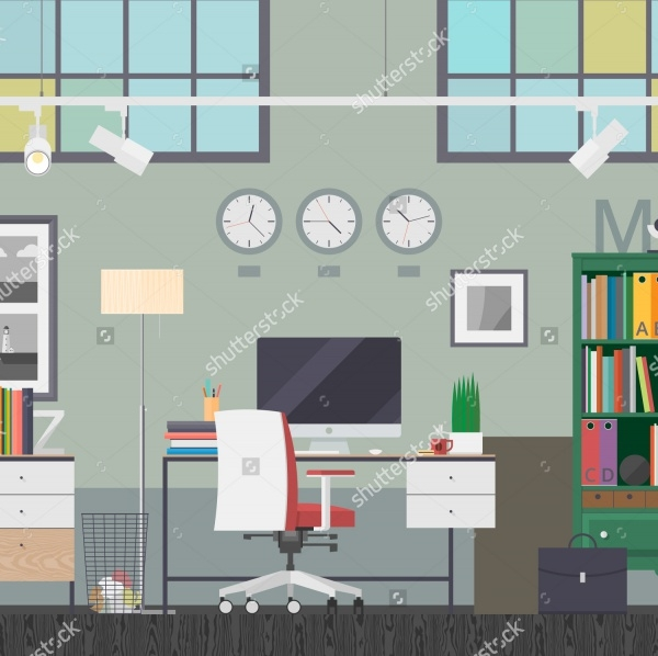 Colorful Workspace Vector Banners