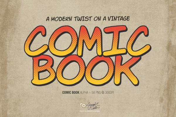 Comic Book Alphabet Font