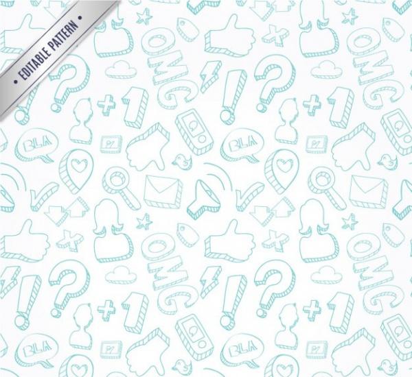 Communication doodles pattern