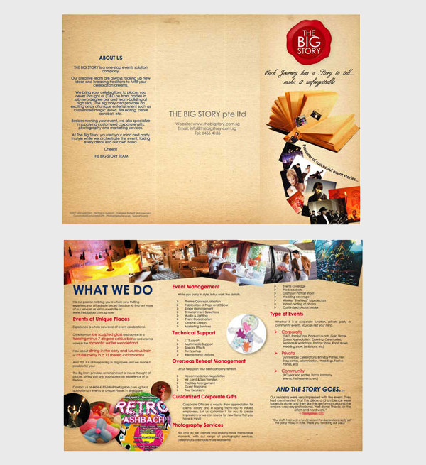 Company Event Brochure
