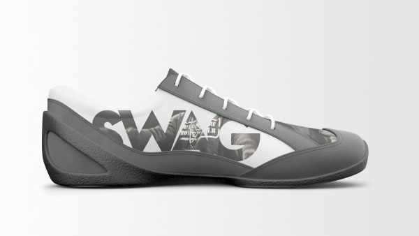 Converse Grey Shoes Mock-up