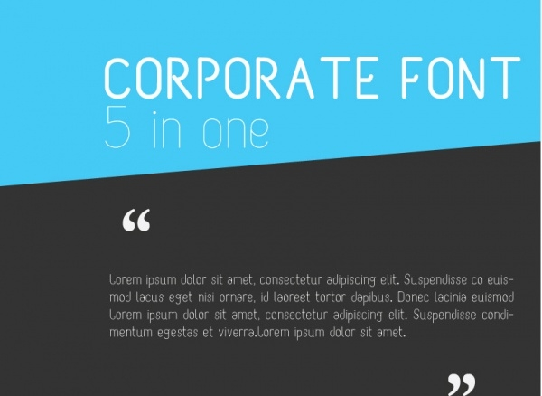Corporate M Font