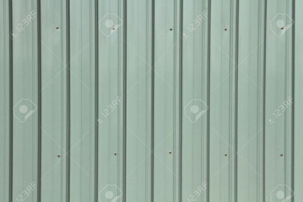 Corrugated metal siding texture