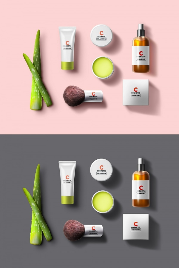 Cosmetic Psd Branding Mockup