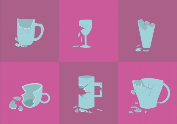 Cracked Glasses Vector