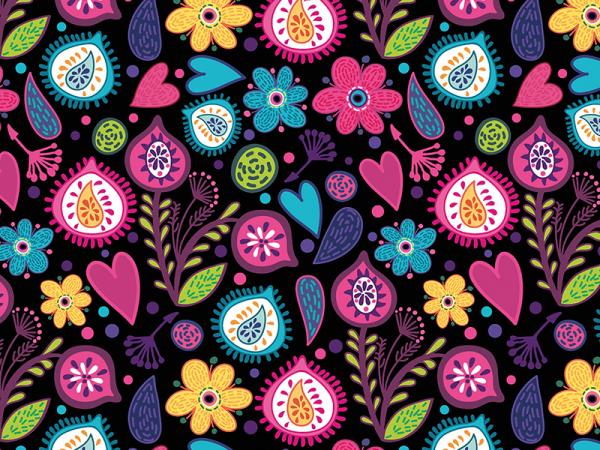 Crazy Floral Carpet Pattern