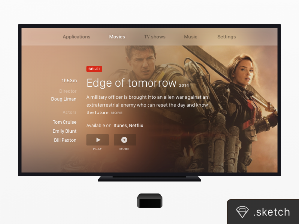 Creative Apple TV Mockup