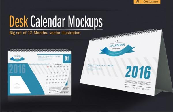 creative calendar 2016 mockup1