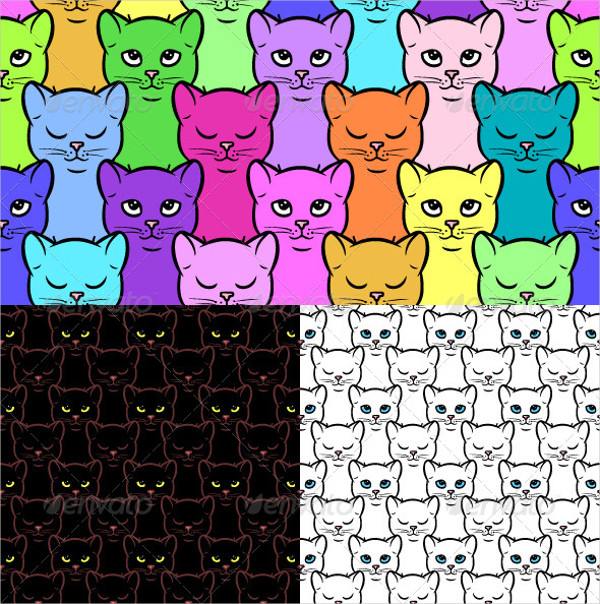 Creative Cartoon Cat Patterns