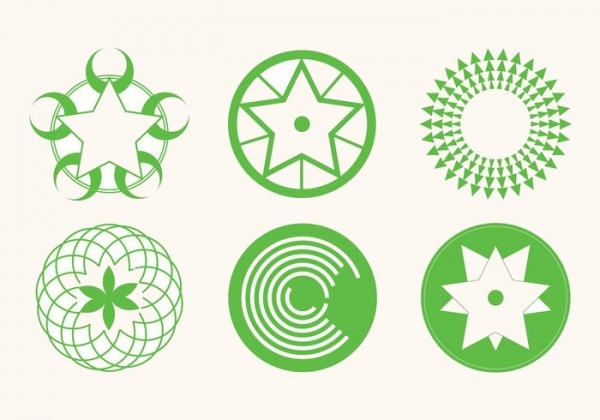 Creative Crop Circles Vector