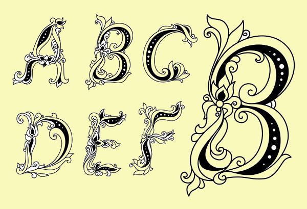 Creative Floral Font Letters