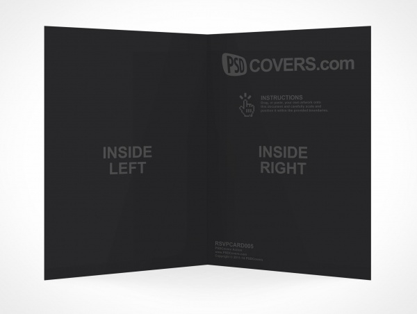 Creative Folded Card Mockup
