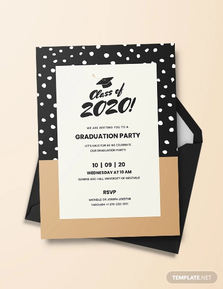 creative graduation invitation